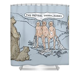 Grin And Bare It Shower Curtain