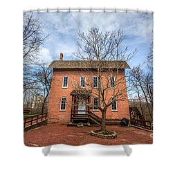 Grist Mill In Deep River County Park Shower Curtain by Paul Velgos