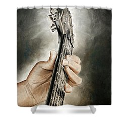 Guitarist's Point Of View Shower Curtain