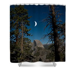Half Dome, Yosemite Np Shower Curtain by Mark Newman