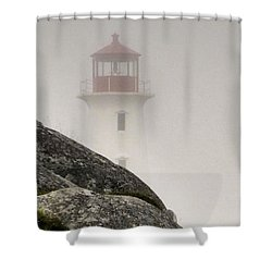 Halifax Fog Shower Curtain by Jennifer Wheatley Wolf