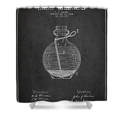 Hand Grenade Patent Drawing From 1884 Shower Curtain by Aged Pixel