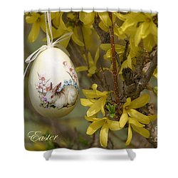Happy Easter Shower Curtain by Living Color Photography Lorraine Lynch