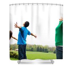 Happy Friends Shower Curtain by Michal Bednarek