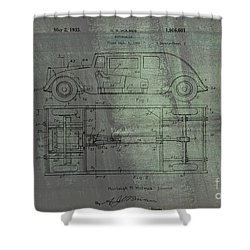 Harleigh Holmes Automobile Patent From 1932 Shower Curtain