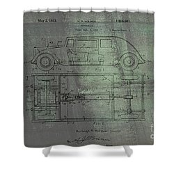 Harleigh Holmes Original Automobile Patent  Shower Curtain