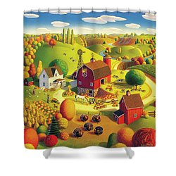 Harvest Bounty Shower Curtain by Robin Moline