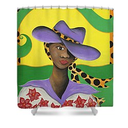 Hat Appeal Shower Curtain by Patricia Sabree