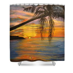 Hawaiian Sunset 11 Shower Curtain