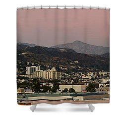 High Angle View Of A City, Beverly Shower Curtain