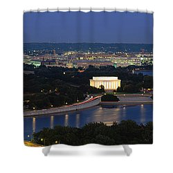 High Angle View Of A City, Washington Shower Curtain by Panoramic Images