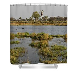 Hippopotamus Hippopotamus Amphibius Shower Curtain by Panoramic Images