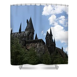 Hogwarts Castle Shower Curtain by David Nicholls