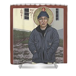 Holy World Evangelist Thomas Merton 267 Shower Curtain