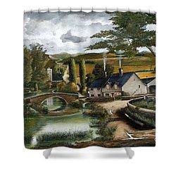Home Farm Shower Curtain