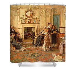 Home Sweet Home Shower Curtain by Walter Dendy Sadler