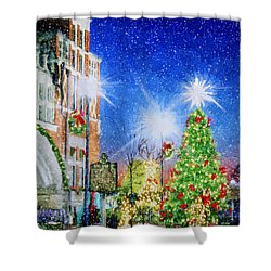 Home Town Christmas Shower Curtain