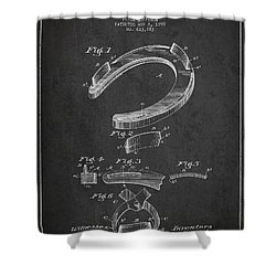 Horseshoe Patent Drawing From 1898 Shower Curtain by Aged Pixel