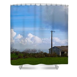 House At End Of The World Shower Curtain