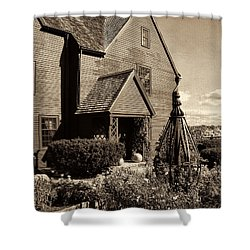 House Of The Seven Gables Shower Curtain by Lourry Legarde