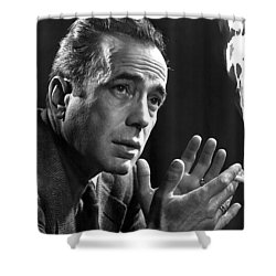 Humphrey Bogart Portrait 2 Karsh Photo Circa 1954-2014 Shower Curtain by David Lee Guss