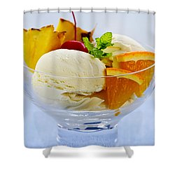 Ice Cream Shower Curtain by Elena Elisseeva