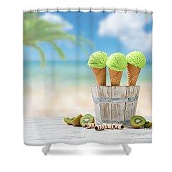 Ice Creams  Shower Curtain by Amanda Elwell