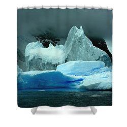 Shower Curtain featuring the photograph Iceberg by Amanda Stadther