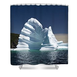 Shower Curtain featuring the photograph Iceberg by Liz Leyden