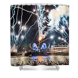 Illuminations Shower Curtain by Sara Frank