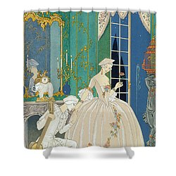 Illustration For 'fetes Galantes' Shower Curtain by Georges Barbier