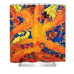 Shower Curtain featuring the mixed media Impact by Donald J Ryker III