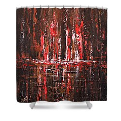 Shower Curtain featuring the painting In The Heat Of The Night by Patricia Lintner
