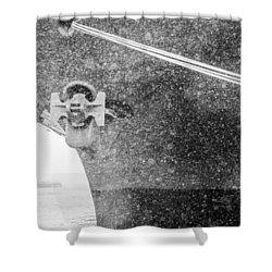 Interpid Under Snowfall Shower Curtain