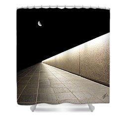 Into The Night I Shower Curtain by Ben and Raisa Gertsberg