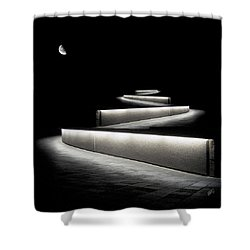Into The Night II Shower Curtain by Ben and Raisa Gertsberg