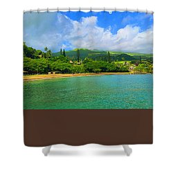 Island Of Maui Shower Curtain