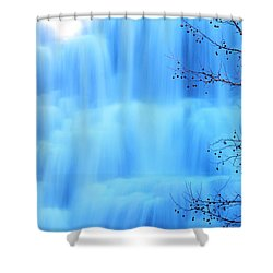 Ithaca Water Falls New York  Shower Curtain by Paul Ge