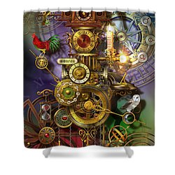 It's About Time Shower Curtain by Ciro Marchetti