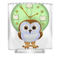 Shower Curtain featuring the painting It's Read O'clock by Leena Pekkalainen