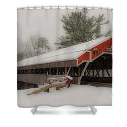 Jackson Nh Covered Bridge Shower Curtain