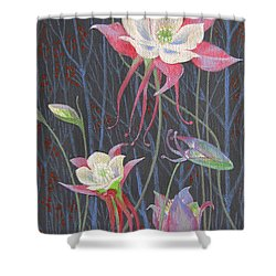 Japanese Flowers Shower Curtain