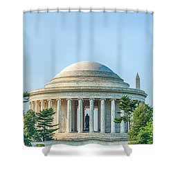 Jefferson Memorial Shower Curtain by Ray Warren