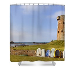 Jersey - Le Hocq Shower Curtain by Joana Kruse