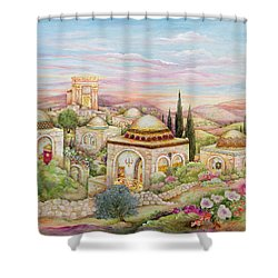 Jerusalem Landscape Shower Curtain by Michoel Muchnik