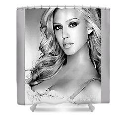 #1 Jessica Alba Shower Curtain