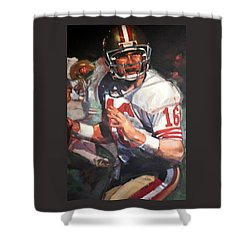 Joe Montana Shower Curtain by Jay Milo