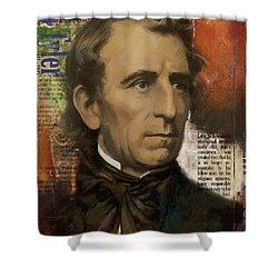 John Tyler Shower Curtain by Corporate Art Task Force