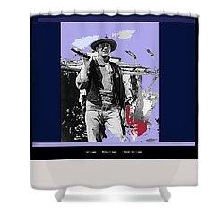John Wayne Rio Bravo Publicity Photo 1959 Old Tucson Arizona Shower Curtain
