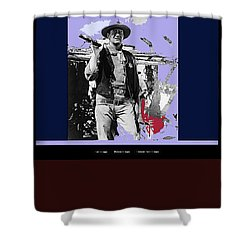 John Wayne Rio Bravo Publicity Photo 1959 Old Tucson Arizona Shower Curtain by David Lee Guss